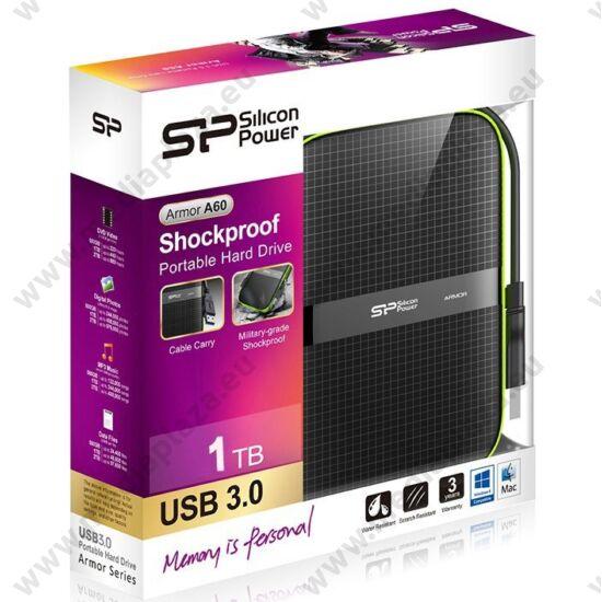 SILICON POWER ARMOR A60 2,5 COL USB 3.0 KÜLSŐ MEREVLEMEZ 1TB FEKETE
