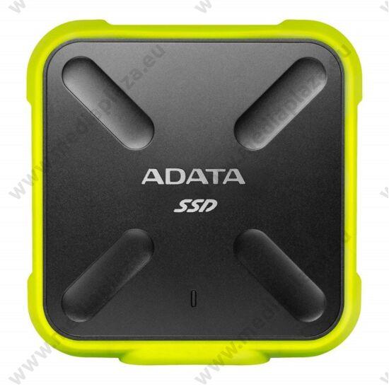 ADATA SD700 2,5 COL USB 3.1 KÜLSŐ SSD MEGHAJTÓ 256GB FEKETE/SÁRGA