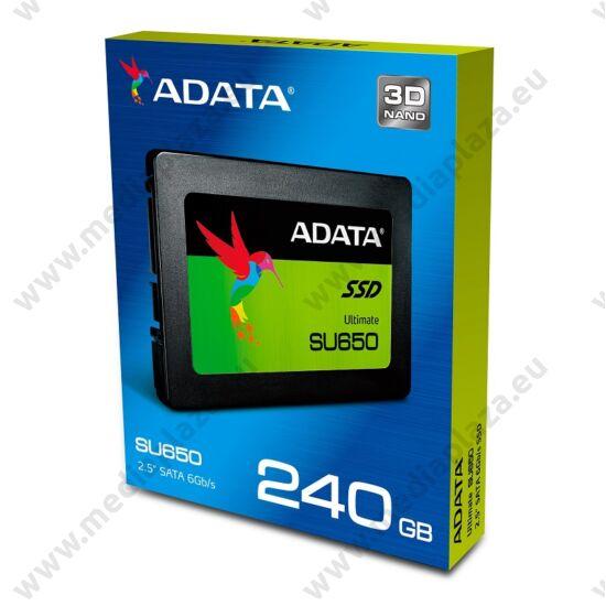 ADATA SU650 240GB 2,5 COL MÉRETŰ SATA III SSD MEGHAJTÓ