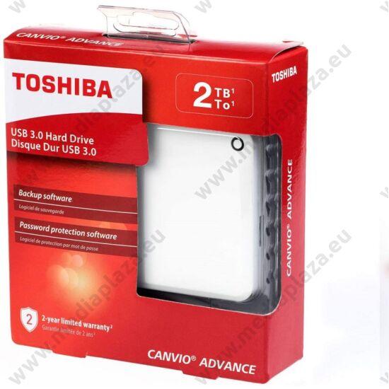 TOSHIBA CANVIO ADVANCE 2,5 COL USB 3.0 KÜLSŐ MEREVLEMEZ 2TB FEHÉR
