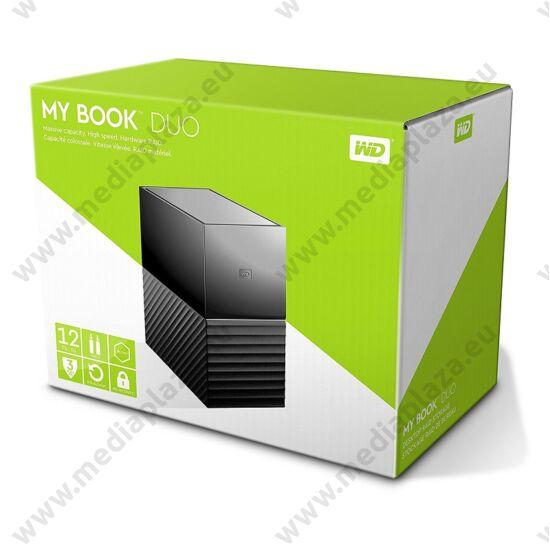 WESTERN DIGITAL MY BOOK DUO 3,5 COL USB 3.0 KÜLSŐ MEREVLEMEZ 12TB