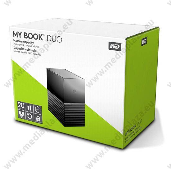 WESTERN DIGITAL MY BOOK DUO 3,5 COL USB 3.0 KÜLSŐ MEREVLEMEZ 20TB