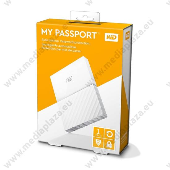 WESTERN DIGITAL MY PASSPORT USB 3.0 HDD 2,5 FEHÉR 1TB