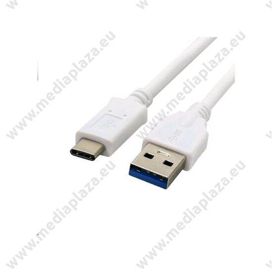 C-TECH USB 3.0 TYPE-C A-MALE/C-MALE KÁBEL 2m FEHÉR