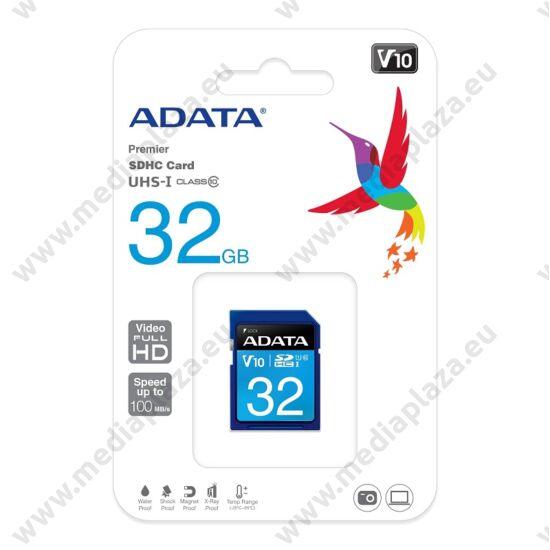 ADATA PREMIER SDHC 32GB CLASS 10 UHS-I U1 V10 100/25 MB/s