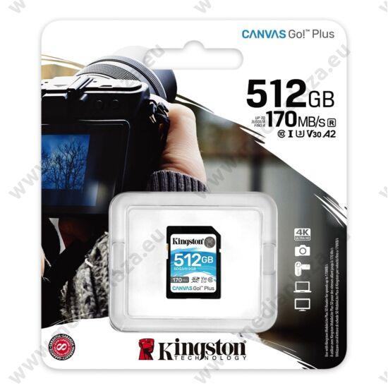 KINGSTON CANVAS GO PLUS SDXC 512GB CLASS 10 UHS-I U3 A2 V30 170/90 MB/s