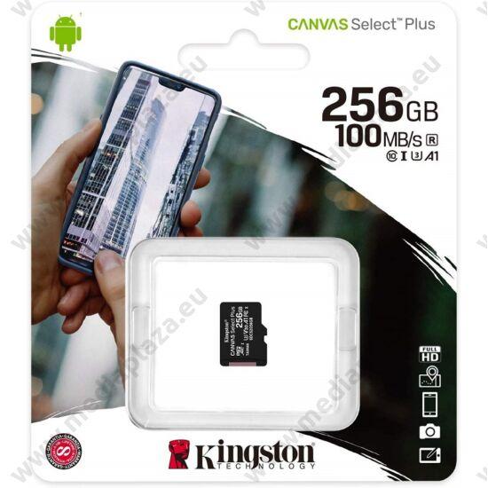KINGSTON CANVAS SELECT PLUS MICRO SDXC 256GB CLASS 10 UHS-I U3 A1 V30 (100/85 MB/s)