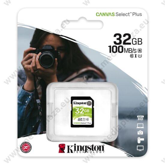 KINGSTON CANVAS SELECT PLUS SDHC 32GB CLASS 10 UHS-I U1 V10 100/10 MB/s