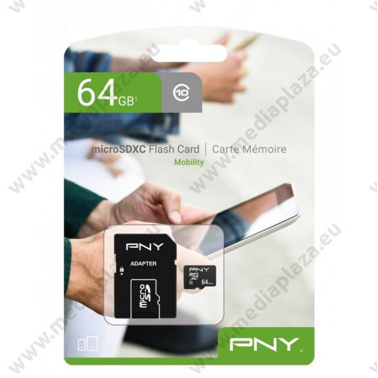 PNY MOBILITY MICRO SDXC 64GB + ADAPTER CLASS 10