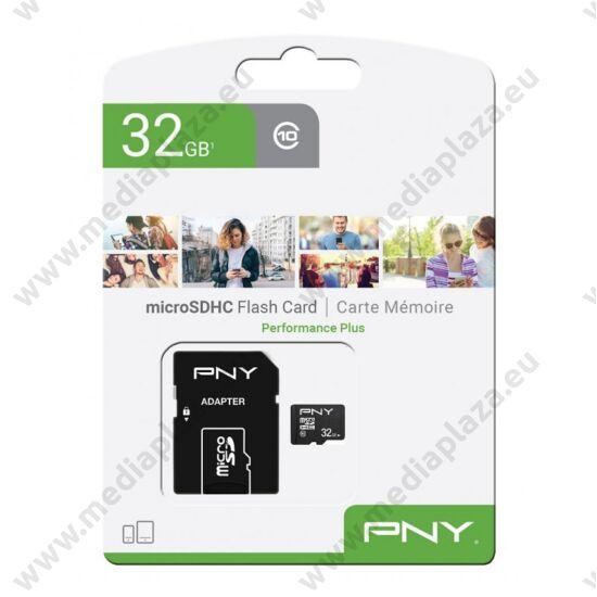 PNY PERFORMANCE PLUS MICRO SDHC 32GB + ADAPTER CLASS 10