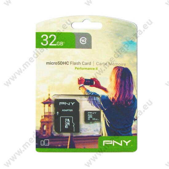 PNY PERFORMANCE-X MICRO SDHC 32GB + ADAPTER CLASS 10