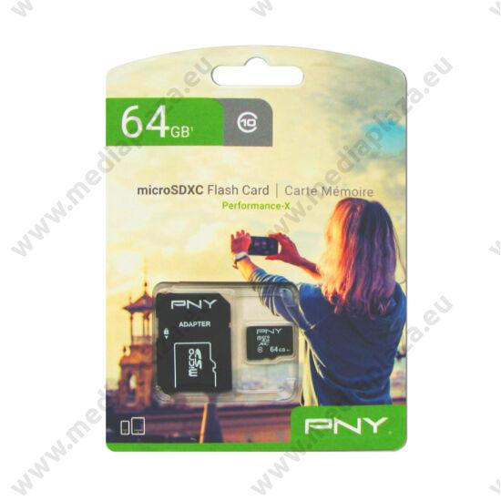 PNY PERFORMANCE-X MICRO SDXC 64GB + ADAPTER CLASS 10