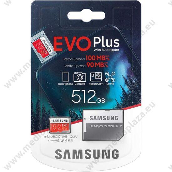 SAMSUNG EVO PLUS (2020) MICRO SDXC 512GB + ADAPTER CLASS 10 UHS-I U3 100/90 MB/s