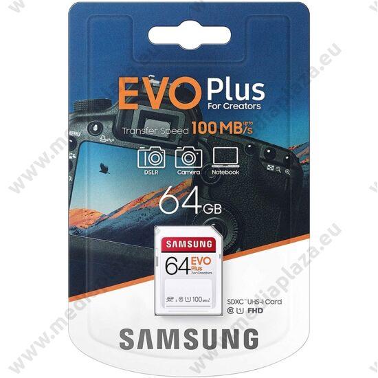 SAMSUNG EVO PLUS SDXC 64GB CLASS 10 UHS-I U1 100 MB/s OLVASÁSI SEBESSÉG