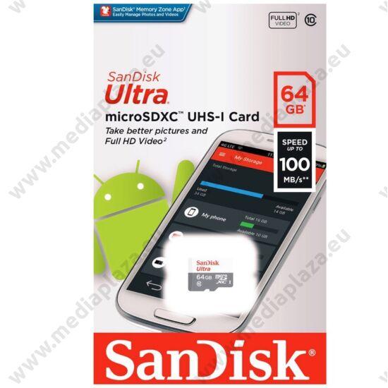 SANDISK ULTRA MICRO SDXC 64GB CLASS 10 UHS-I U1 ANDROID 100 MB/s OLVASÁSI SEBESSÉG
