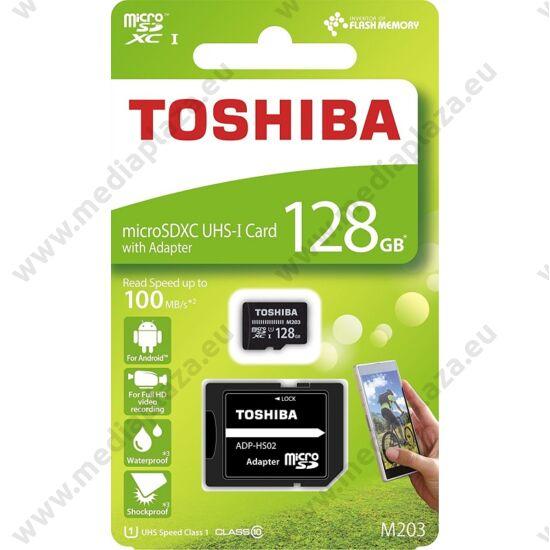 TOSHIBA MICRO SDXC 128GB + ADAPTER CLASS 10 UHS-I U1 (100 MB/s OLVASÁSI SEBESSÉG)