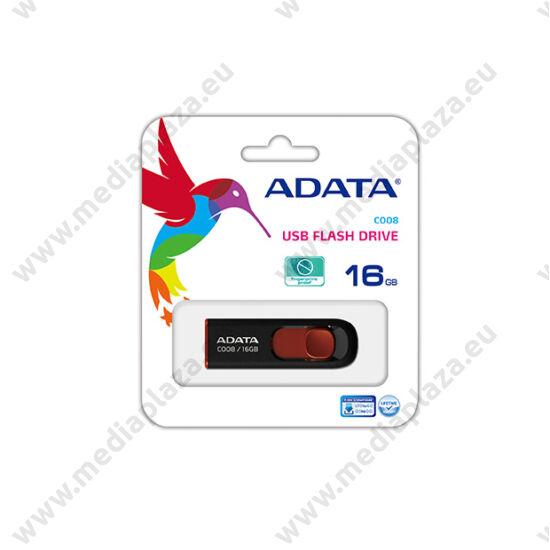 ADATA USB 2.0 PENDRIVE CLASSIC C008 16GB FEKETE/PIROS