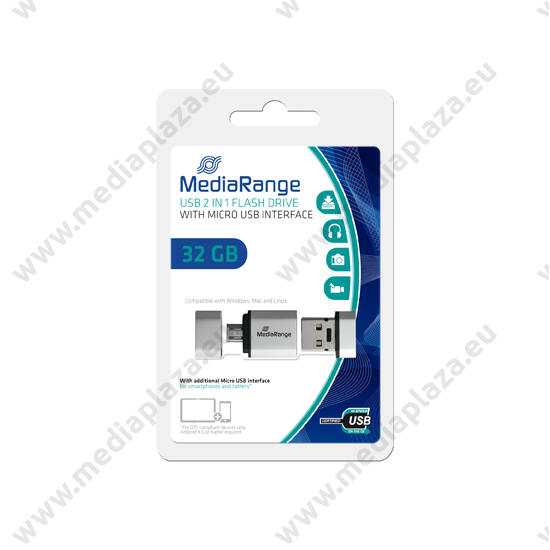 MEDIARANGE USB 2.0 OTG PENDRIVE NANO 32GB MR932