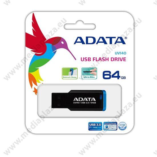 ADATA USB 3.0 PENDRIVE UV140 64GB FEKETE/KÉK