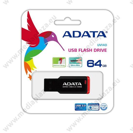 ADATA USB 3.0 PENDRIVE UV140 64GB FEKETE/PIROS