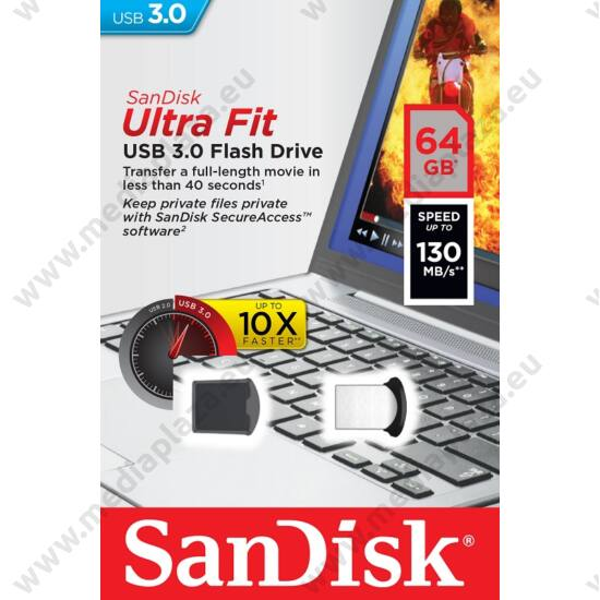 SANDISK USB 3.0 ULTRA FIT PENDRIVE 64GB