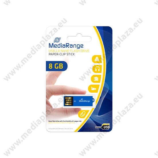 MEDIARANGE USB 2.0 PENDRIVE NANO PAPER-CLIP STICK 8GB KÉK MR975