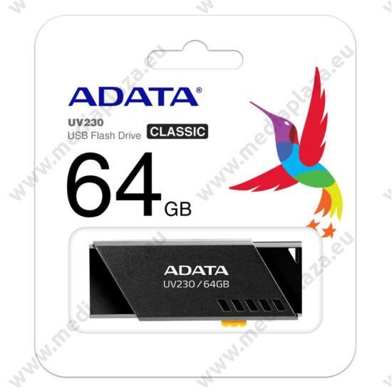 ADATA UV230 USB 2.0 PENDRIVE 64GB FEKETE