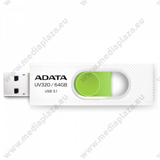 ADATA UV320 USB 3.1 PENDRIVE 64GB FEHÉR/ZÖLD