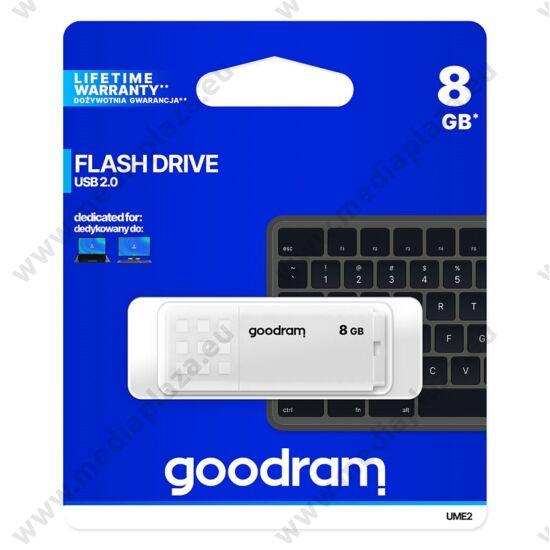 GOODRAM UME2 USB 2.0 PENDRIVE 8GB FEHÉR