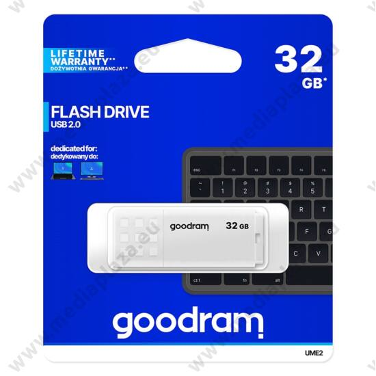 GOODRAM UME2 USB 2.0 PENDRIVE 32GB FEHÉR
