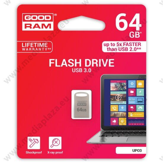GOODRAM UPO3 FÉMHÁZAS USB 3.0 PENDRIVE 64GB