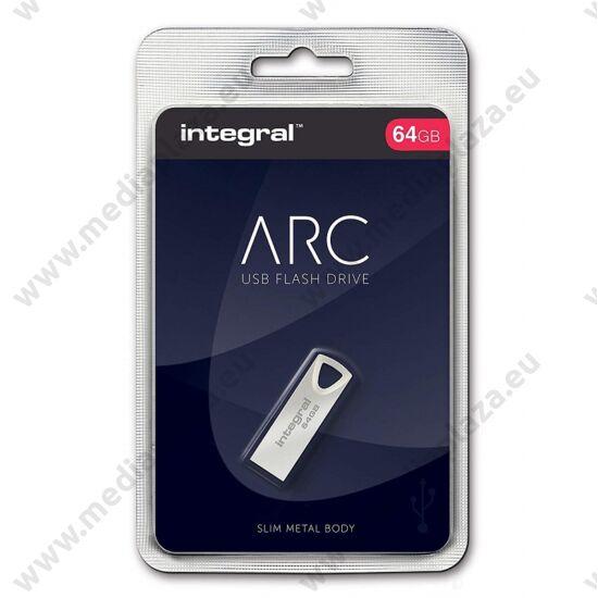 INTEGRAL ARC FÉMHÁZAS USB 2.0 PENDRIVE 64GB