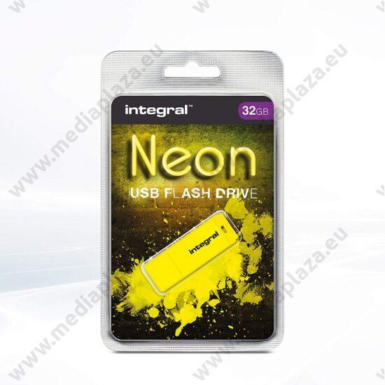 INTEGRAL NEON USB 2.0 PENDRIVE 32GB SÁRGA