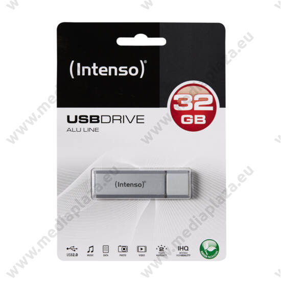 INTENSO USB 2.0 PENDRIVE ALU LINE EZÜST 32GB
