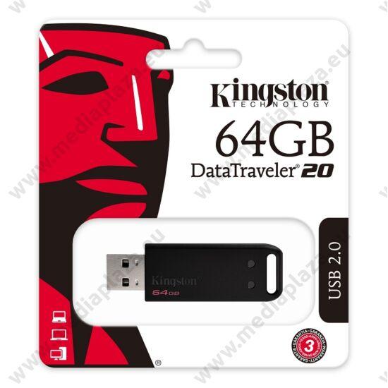 KINGSTON USB 2.0 DATATRAVELER 20 FEKETE 64GB