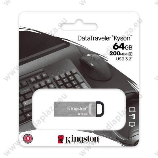 KINGSTON DATATRAVELER KYSON USB 3.2 GEN 1 PENDRIVE 64GB