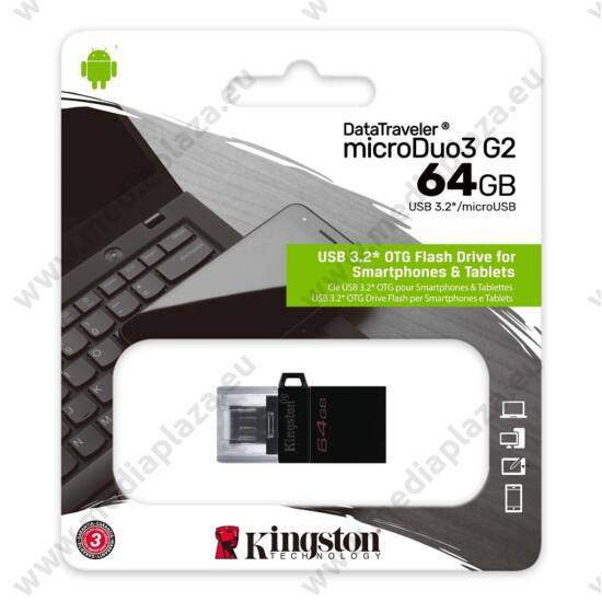 KINGSTON DATATRAVELER MICRODUO 3 G2 USB 3.2/MICRO USB PENDRIVE 64GB