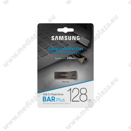 SAMSUNG BAR PLUS USB 3.1 PENDRIVE 128GB SZÜRKE