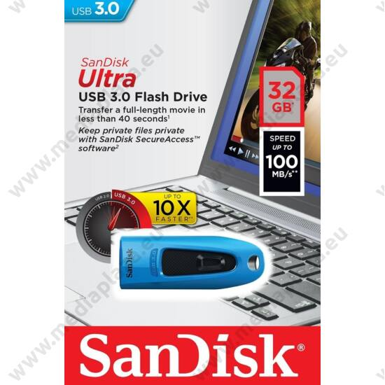 SANDISK USB 3.0 ULTRA PENDRIVE 32GB KÉK