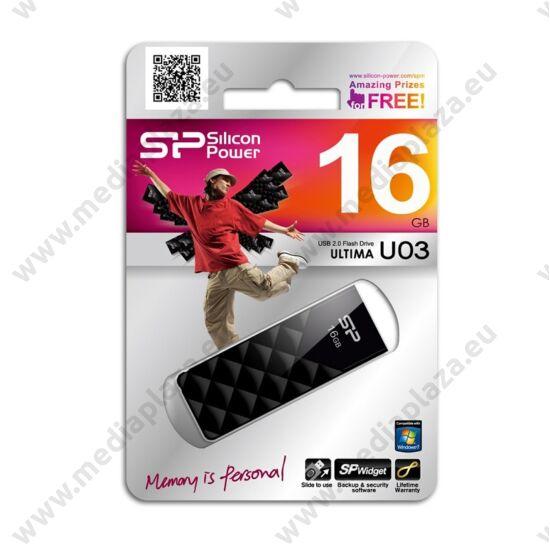 SILICON POWER ULTIMA U03 USB 2.0 PENDRIVE 16GB FEKETE