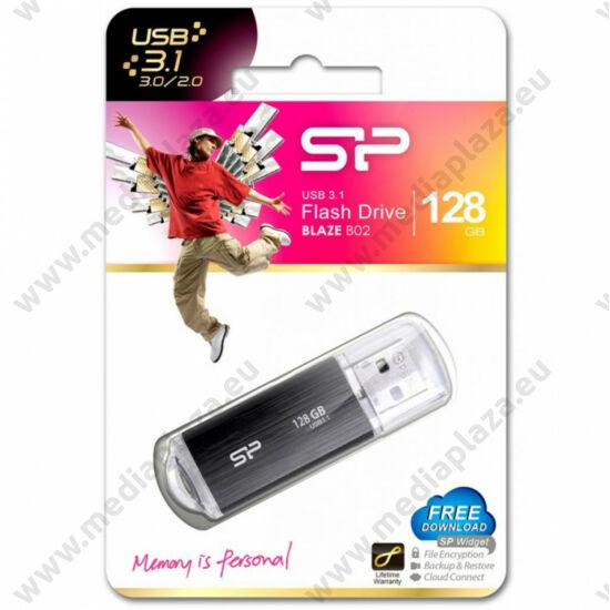SILICON POWER BLAZE B02 USB 3.1 PENDRIVE 128GB FEKETE