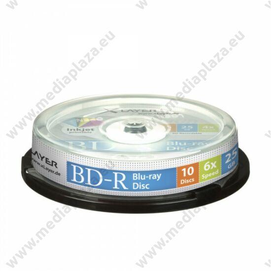 XLAYER BD-R 25GB 6X NYOMTATHATÓ CAKE (10)
