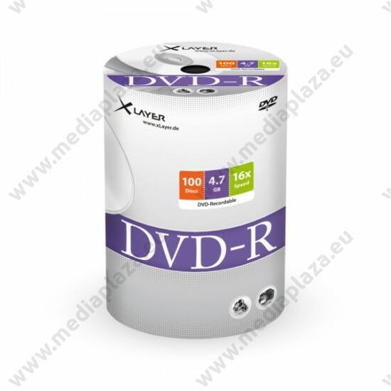 XLAYER DVD-R 16X SHRINK (100)