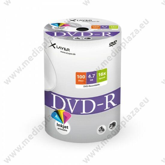 XLAYER DVD-R 16X FULL NYOMTATHATÓ SHRINK (100)