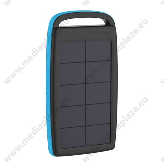 XLAYER POWERBANK PLUS SOLAR 20.000 mAh FEKETE/KÉK