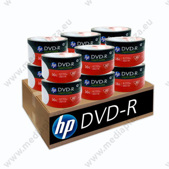 HP DVD-R 16X FULL NYOMTATHATÓ 12 X SHRINK (50) XXL DVD CSOMAG