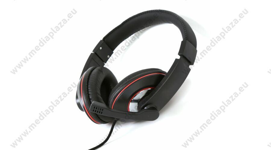 FREESTYLE FH4009 HI-FI STEREO HEADSET MIKROFONNAL FEKETE PIROS ... a9c9ab8283
