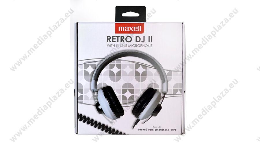 MAXELL RETRO DJ2 FEJHALLGATÓ MIKROFONNAL FEHÉR - MEDIAPLAZA.EU ... 0639748837